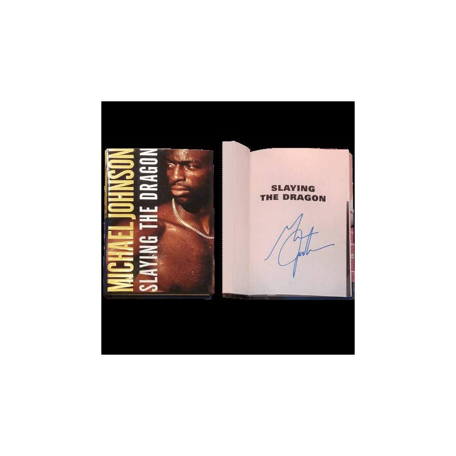 Michael Johnson Autographed Signed Auto Olympics Track Slaying The Dragon Book Certified Authentic