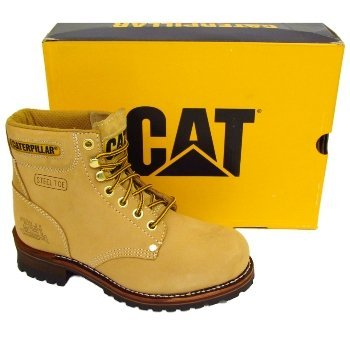 438696af6 Mens Honey Tan Nubuck Caterpillar Cat Sequoia Leather Safety Steel-Toe-Cap  Work Boots: Amazon.co.uk: Shoes & Bags