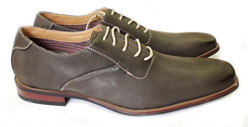 MENS LEATHER SHOES LINED NEW FERRO WING TIP 19277GREY511 DRESS UP LACE ALDO OXFORDS ExSO8qfx