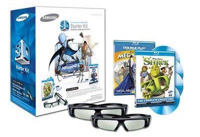Samsung 3D Starter Kit - 2 pairs of Black 3D active glasses SSG-3100m/za (Samsung 3d Tv Glasses)