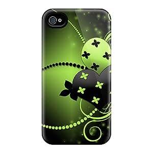 Special LLYH Skin Case Cover For Iphone 4/4s, Popular Dark Love Pair Phone Case