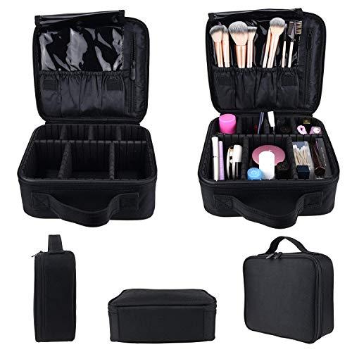 Royal Brands Travel Makeup Case, Hobby Organizer Professional Cosmetic Makeup Bag Organizer Accessories Case Tools (Small (9.5x9x10), Black)