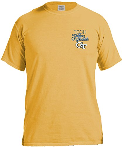 NCAA Georgia Tech Women's Laces & Bows Color Short Sleeve T-Shirt, Medium,Mustard