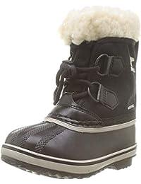Unisex-child Yoot Pac Nylon Cold Weather Boot , Black, 11 M US Little Kid