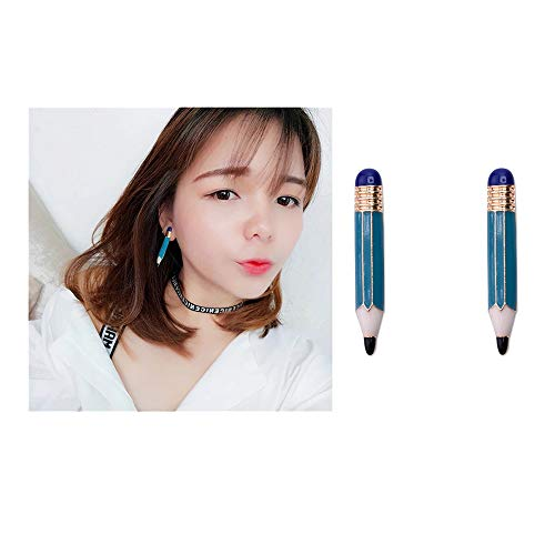 JUESJ Resin Creative Funny Pencil And Cigarette Butts Pendant Earrings Personlized Ear Studs Jewelry - Jewelry Pencil