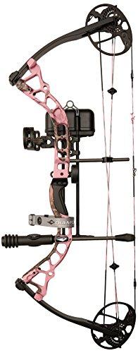 Diamond Archery Infinite Edge Pro Bow Package, Pink Blaze, Left (Infiniti Throttle)