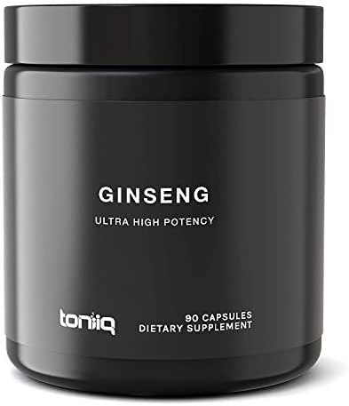 Ultra High Strength Panax Ginseng Capsules - 80% Ginsenosides - The Strongest Red Korean Ginseng Pills Available - 750 mg - Optimal Support for Enhanced Energy and Performance - 90 Veggie Caps