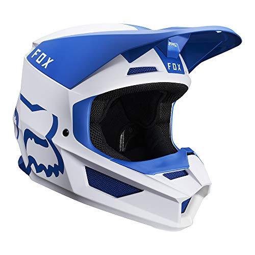 2019 Fox Racing V1 Mata Off-Road Motorcycle Helmet - Blue/White / X-Large