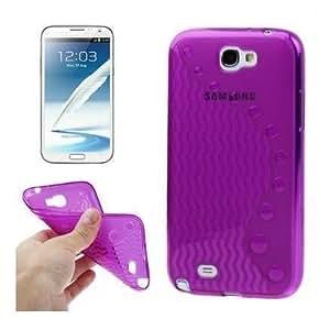 Coque plastique souple Wave Line - violet - pour Samsung Galaxy Note 2