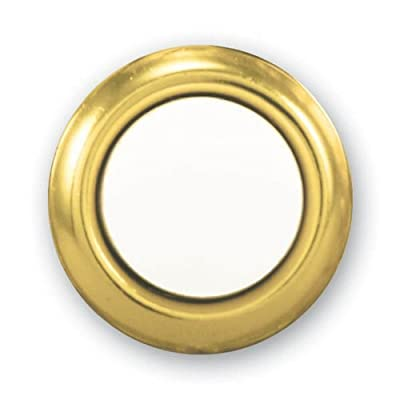 Heath Zenith SL-455-02 Wired Replacement Button, Gold Rim with Lighted Pearl Center