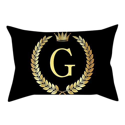 Duseedik for Friends Pillow Cover Black and Gold Letter Pillowcase Sofa Cushion Cover Home -