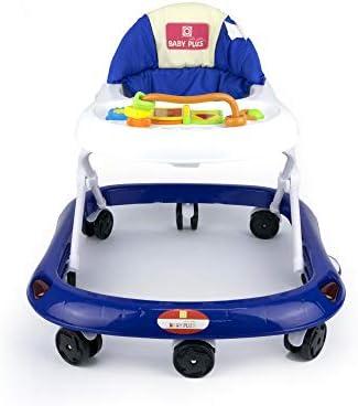 مشاية أطفال بيبي بلس قابلة للتعديل من بيبي بلس BP8994-WHT/D.BLUE، حزمة مكونة من قطعة واحدة