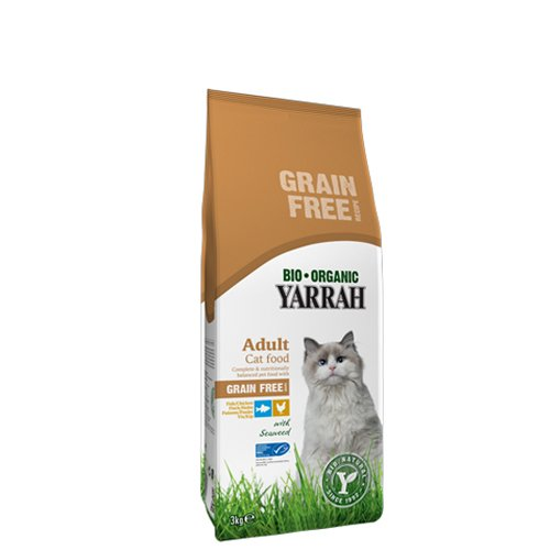 Yarrah Bio Katzenfutter Huhn und Fisch, getreidefrei, 1er Pack (1 x 800 g)