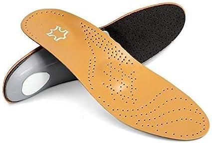 DOACT Plantillas Microfibra Cuero de imitación PU Soporte completo para arco Amortiguación y amortiguación Zapatos Pads para Fascitis plantar, Pies planos, Arcos caídos, Espuelas del talón (41-42)