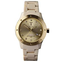 Triwa Womens DAAC102 Naked Brasco Gold Dial Watch