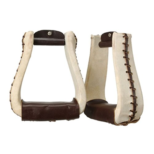 Tough 1 Rawhide Roper Stirrups