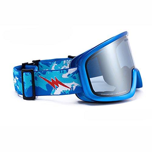 SE7VEN Snowboard Lunettes Skate,Double Couche Anti-buée Sphériques Panoramique Des Lunettes De Protection Unisexe Otg I
