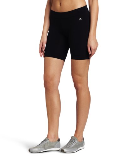 Danskin Women's Essentials Seven Inch Bike Short, Black, (Bike Shorts Women Spandex)