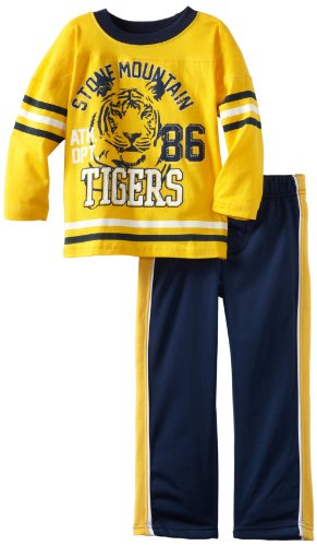 Little Rebels Baby Boys' Two Piece Stone Mountain Tigers Pant Set