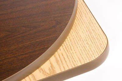 Oak Street Manufacturing OW36R Two Sided Round Tabletop, 36'' Diameter x 1'' Thick, Oak/Walnut by Oak Street Manufacturing