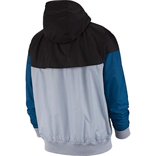 black sail Large Nike 464 Blu Mist blue obsidian Windrunner Force Giacca Sportswear Uomo pAq0wFp