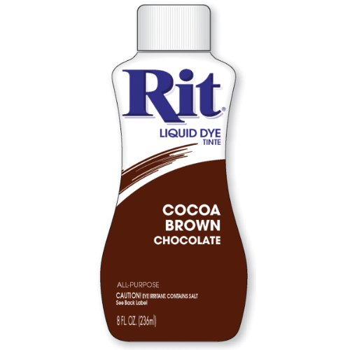 Rit Dye Liquid Fabric Dye, 8-Ounce,  Cocoa Brown (Punch Designer Paper)