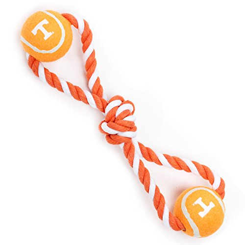 Cheap Pet Goods Manufacturing Tennessee Volunteers Double Ball with Dog Toy Rope