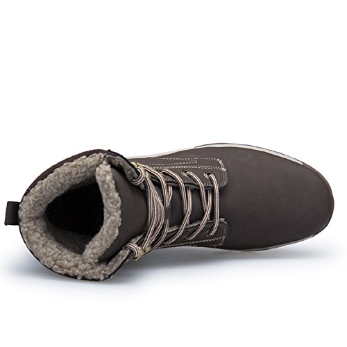 Schneestiefel Herren Wanderschuhe LILY999 Warm Braun Trekking Boots Wasserdicht 3 Sneaker Gefütterte Outdoor Winterschuhe Winterstiefel wX688xEqdr