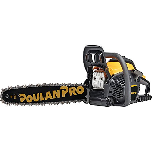 Blue Chainsaw - Poulan Pro 967061501 50cc 2 Stroke Gas Powered Chain Saw with Carrying Case, 20