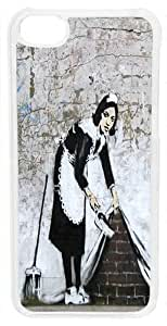 Banksy Maid in properly London Case of for iPhone you 5c (Clear the Case)