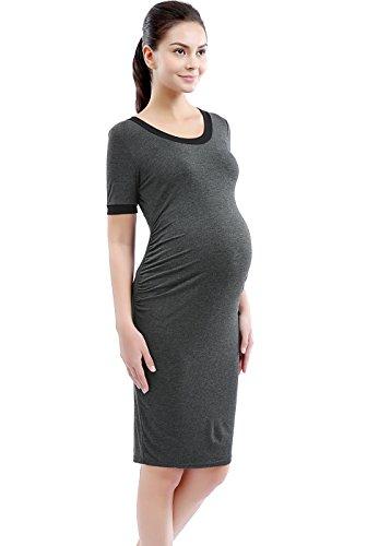 Maternity T-Shirt Dress - Gray S