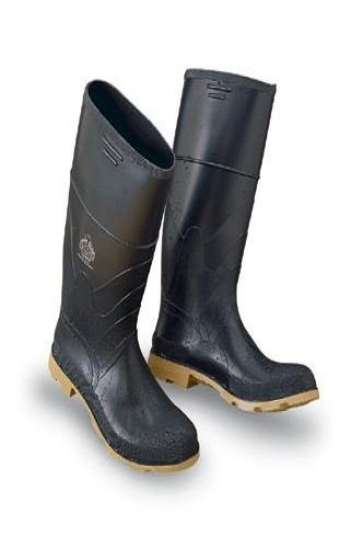 16' Steel Toe Boot - Bata Shoe 86312-12 Onguard Industries Size 12 Black 16'' PVC Standard Chemical Resistant Knee Boots With Cleated Outsole And Steel Toe, English, 15.34 fl. oz, Plastic, 14