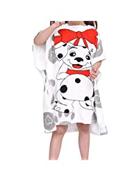 Infant Baby Boys Girls Kids Bathrobe Cartoon Animals Hooded Bath Towel Pajamas,SIN vimklo