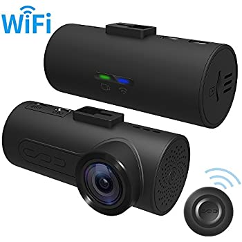 HaloCam C1 Dash Cams FHD 1080P Car Camera Built-in WiFi Driving Recorder with Sony IMX323 Exmor CMOS G-sensor Super Clear Vision Loop Recording