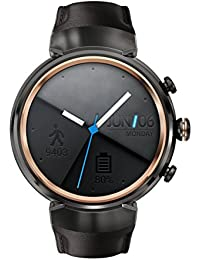 ZenWatch 3 WI503Q-GL-DB 1.39-inch AMOLED Smart Watch with dark brown leather strap