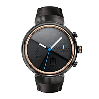 Asus Zenwatch 3 Wi503q-gl-db 1.39-inch Amoled Smart Watch With Dark Brown Leather Strap 0