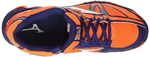 Mizuno Wave Bolt 6 Mid,  homme, Arancione (Orange Clown Fish/white/blue Depths)