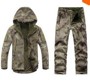 Gear Tactical Softshell Camouflage Outdoors Jacket Set Men Army Sport Waterproof Hoody Clothing Set Military Jacket+Pants nikstoreinus