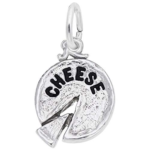 Rembrandt Charms Cheese Charm, Sterling Silver ()