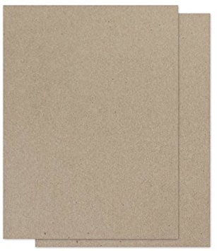 Brown Bag Paper - KRAFT - 8.5 x 11 - 65lb COVER - 100 - Cardstock Recycled Paper
