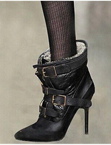 Uk3 Tacón Cn40 Black Stiletto 5 De Cn35 Negro us8 Botas 5 Eu36 Casual Semicuero Xzz Uk6 Puntiagudos Zapatos Mujer us5 Black 5 5 Eu39 qcSaABW1t