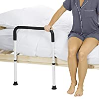 Vive Bed Assist Rail - Adult Bedside Standing Bar for Seniors, Elderly, Handicap, Kid - Fit King, Queen, Full, Twin - Adjustable Fall Prevention Safety Handle Guard - Long Hand Bedrail Grab Bar Cane