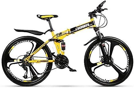 Plegable bicicleta de montaña 27 velocidad Doble Suspensión Frenos ...