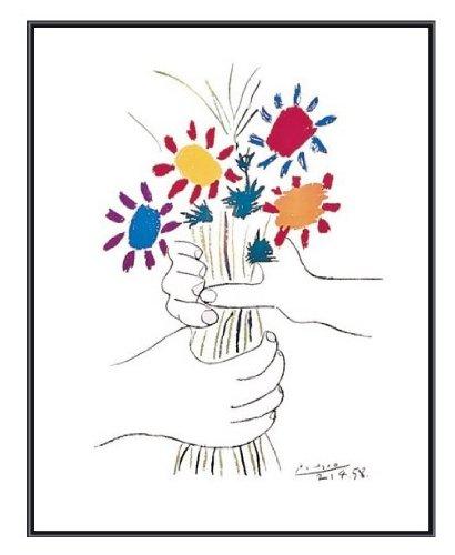 Pablo Picasso Petite Fleurs Quality Framed Art Print Black Frame 22 x 28