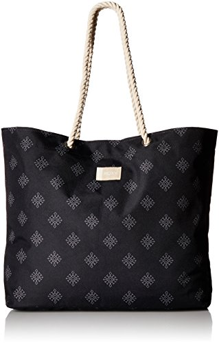 Roxy Printed Tropical Vibe Tote Beach Bag, anthracite pearly tiles ()