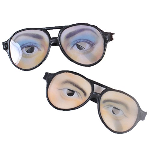 Hallowe En Costumes - Rise World Halloween Instant Weirdo Glasses-His and Hers Funny Eyes Disguise Glasses