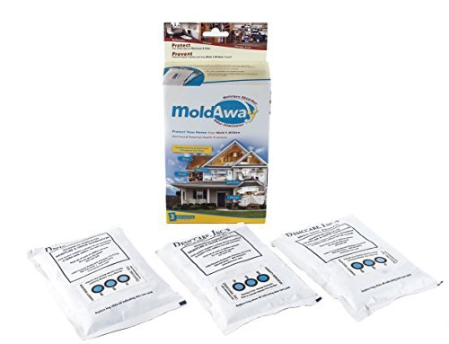 (SafeNDry Mold-Away Moisture Absorber and Odor Eliminator (3)-(200)Gram Bags )