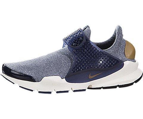 new style 74178 4ed8e Galleon - Nike Women s Sock Dart SE Midnight Navy Golden Beige Running Shoe  6 Women US