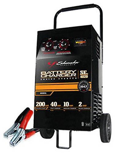 Schumacher SE-4020 10/40/200 Amp Wheel-Style - Charger Battery Heavy Duty