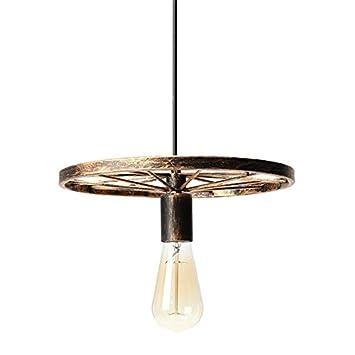 Masunn Vintage Industrie Loft Retro Diy Iron Felgen Lampe